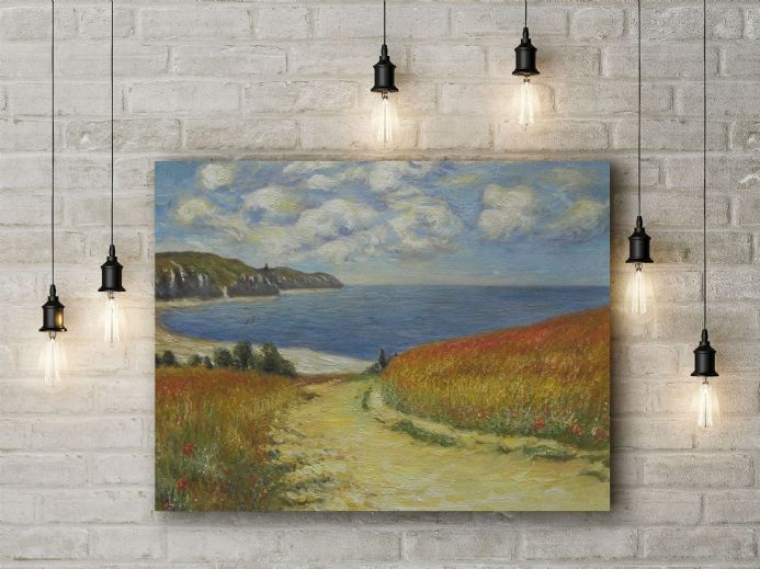 Claude Monet: Path Through the Corn at Pourville. Fine Art Canvas.